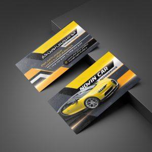 دانلود فایل لایه باز PSD کارت ویزیت ارائه انواع خدمات اتو مبیل های ایرانی و خارجی زیبا و شیک