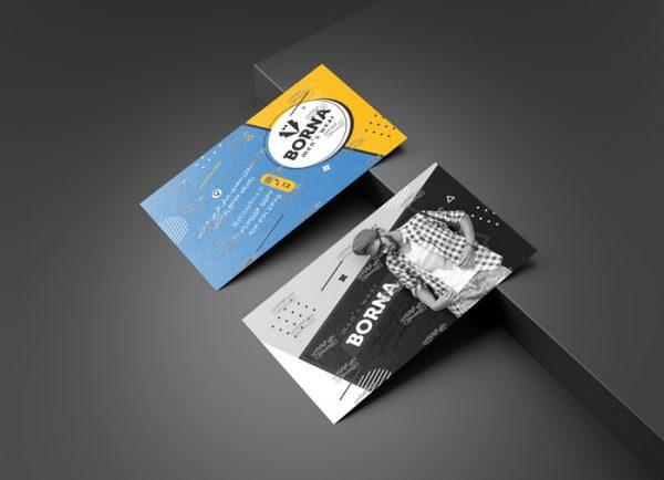 دانلود فایل PSD کارت ویزیت پوشاک مردانه